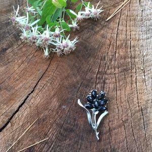 Jewelry - Black Flower Brooch / Pin